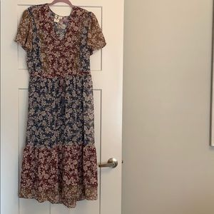 Boho floral maxi dress from Anthropologie